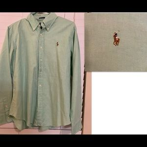 LS Mint Green Polo Shirt. Like New.